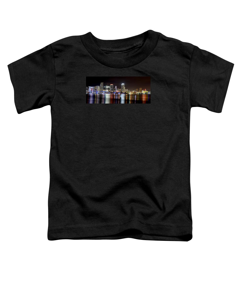 Miami Toddler T-Shirt featuring the photograph Miami - Florida by Brendan Reals