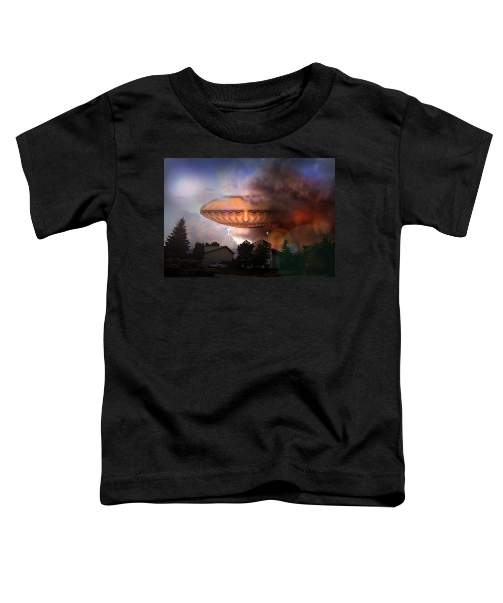 Surrealism Toddler T-Shirt featuring the digital art Mystic Ufo by Otto Rapp