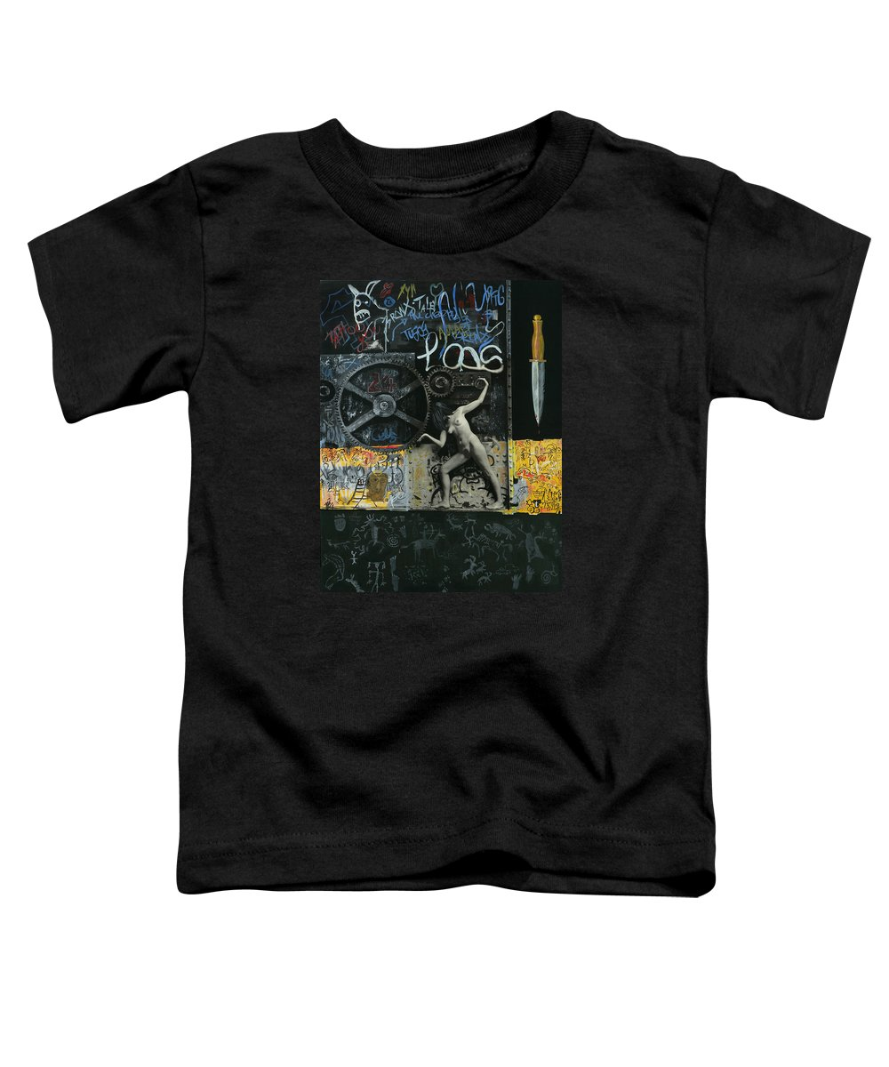 City Toddler T-Shirt featuring the painting New York City by Yelena Tylkina
