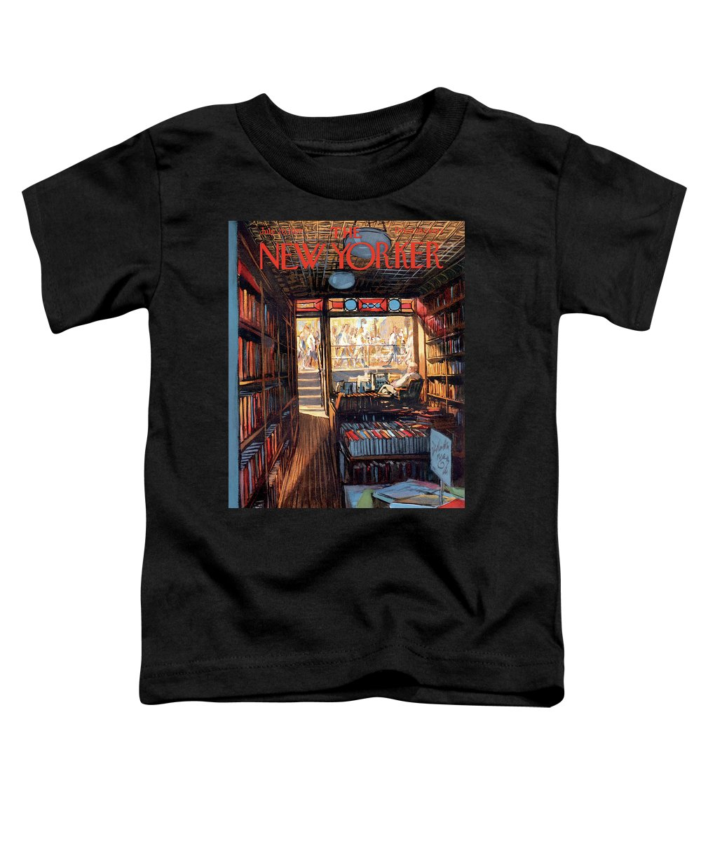Arthur Getz Agt Toddler T-Shirt featuring the painting New Yorker July 20th, 1957 by Arthur Getz