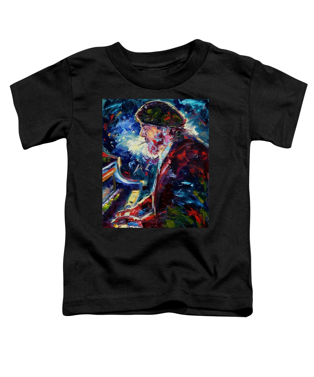 Blues Toddler T-Shirt featuring the painting Night Tripper by Debra Hurd