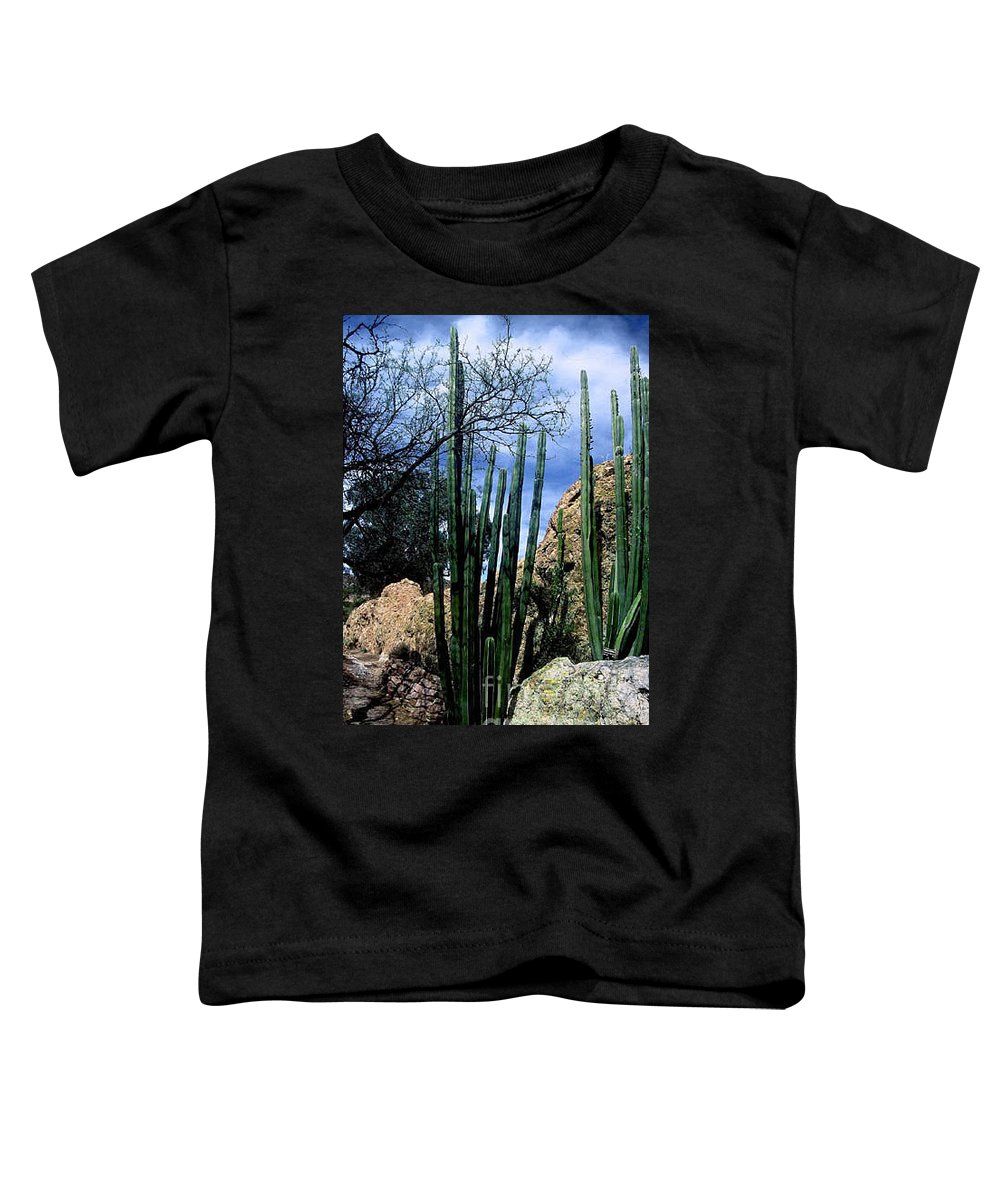 Cactus Toddler T-Shirt featuring the photograph Organ Pipe by Kathy McClure