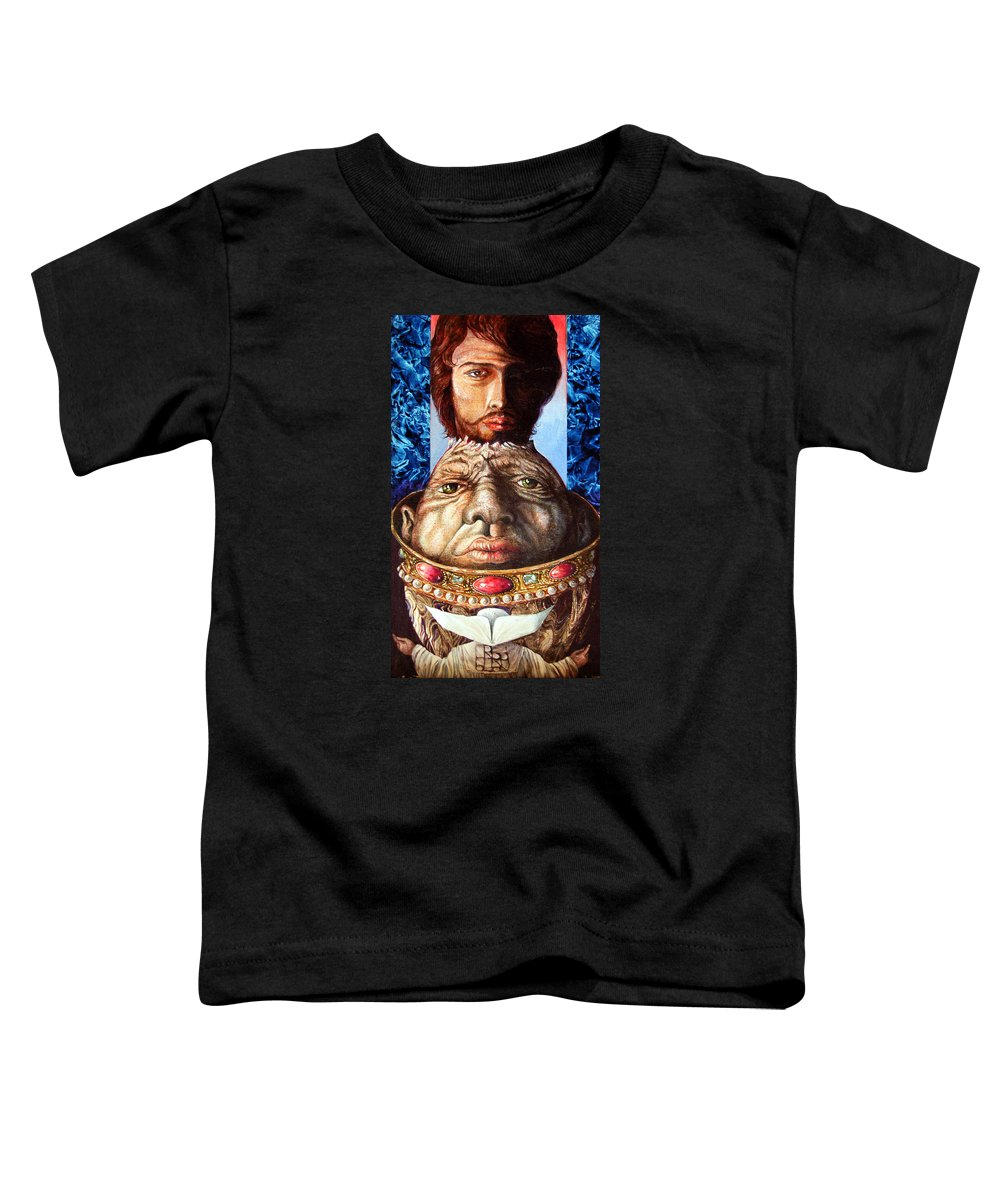 Surrealism Toddler T-Shirt featuring the painting Parthenogenesis II by Otto Rapp