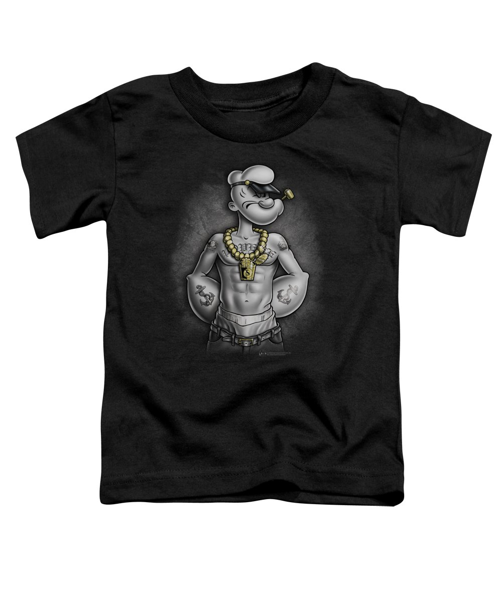 Popeye Toddler T-Shirt featuring the digital art Popeye - Hardcore by Brand A