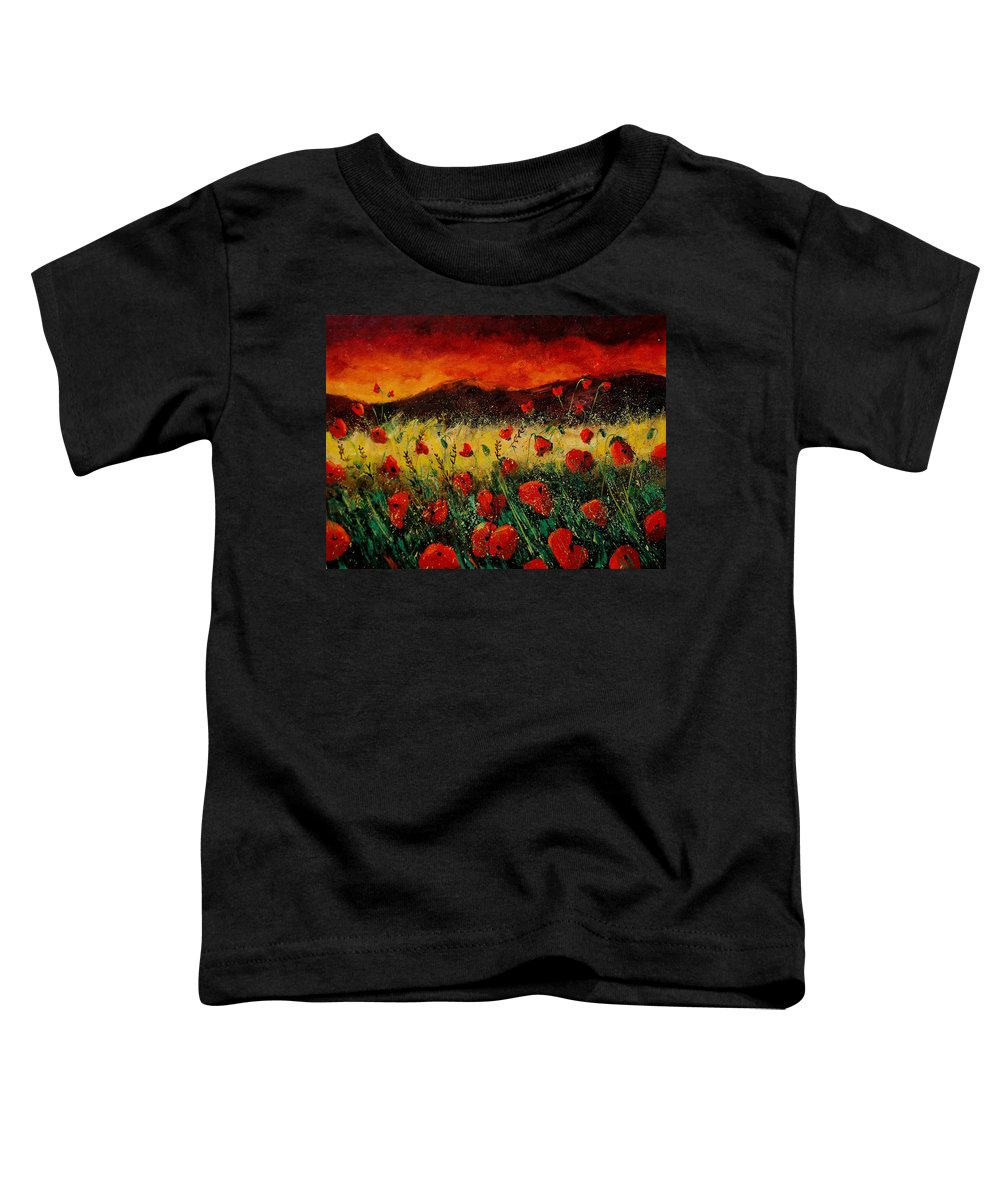 Poppies Toddler T-Shirt featuring the painting Poppies 68 by Pol Ledent