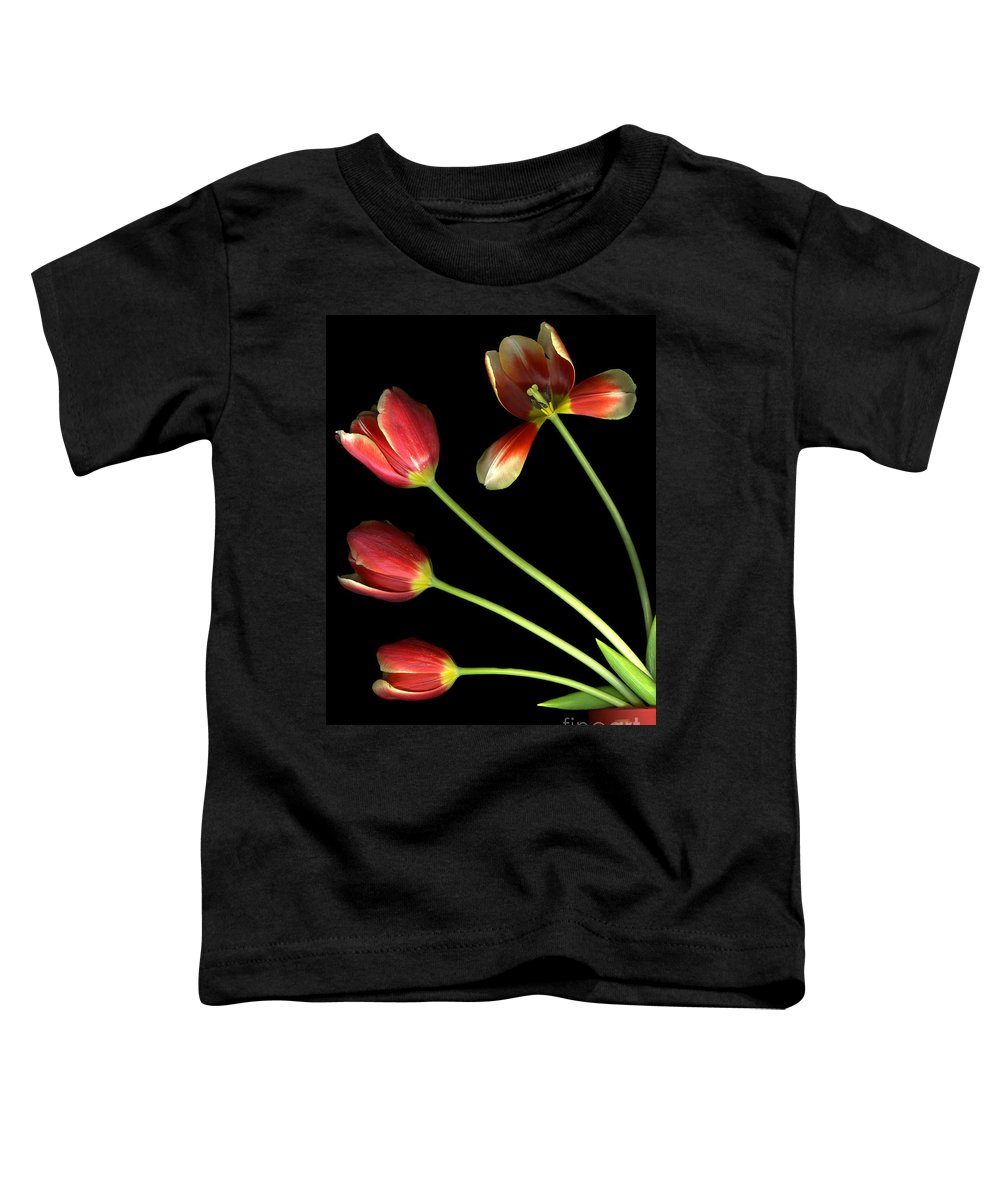 Scanography Toddler T-Shirt featuring the photograph Pot Of Tulips by Christian Slanec