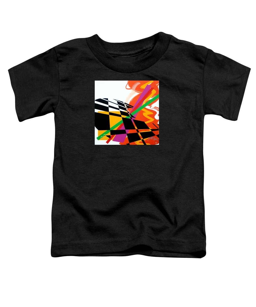 Abstract Toddler T-Shirt featuring the painting Red Movement by Jean Pierre Rousselet