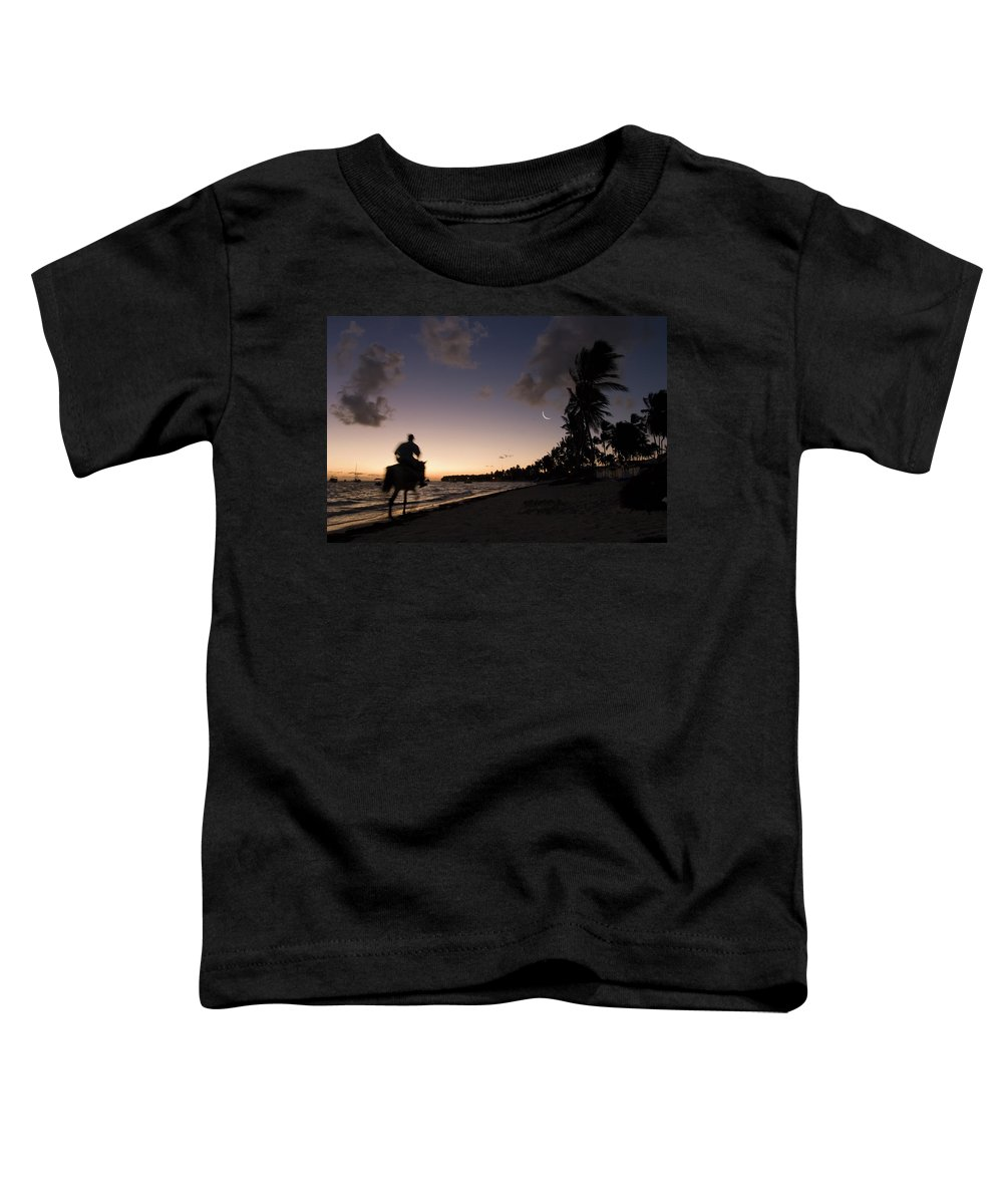 3scape Toddler T-Shirt featuring the photograph Riding On The Beach by Adam Romanowicz