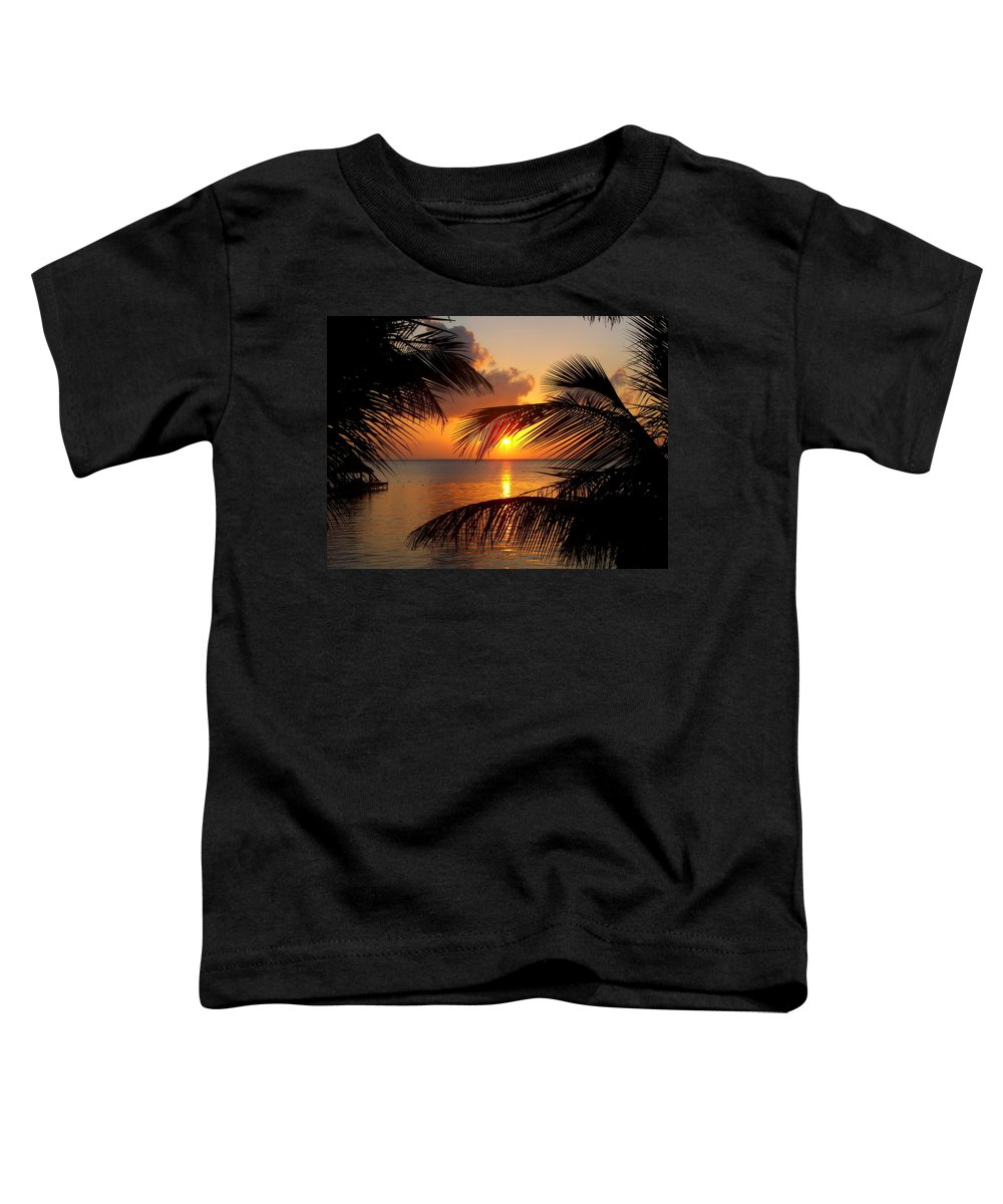 Ambergis Caye Toddler T-Shirt featuring the photograph Rise And Behold by Karen Wiles
