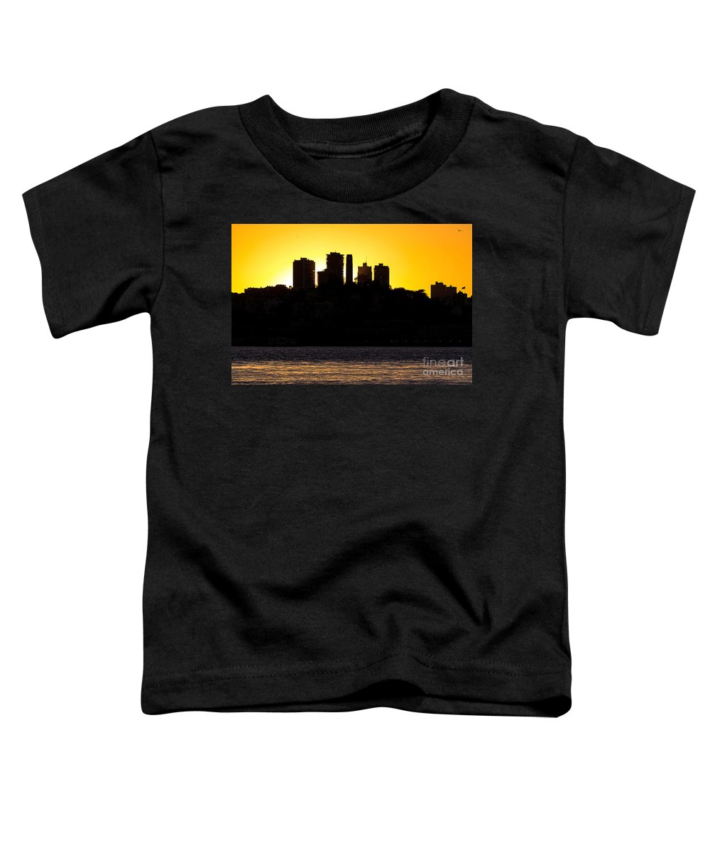 Cityscape Toddler T-Shirt featuring the photograph San Francisco Silhouette by Kate Brown
