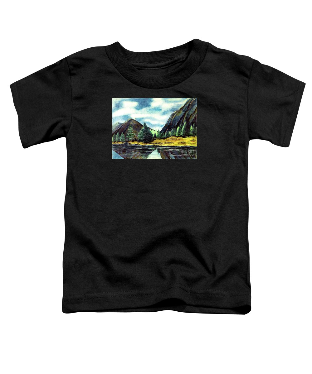 Fine Art Toddler T-Shirt featuring the painting Solitude by Patricia Griffin Brett