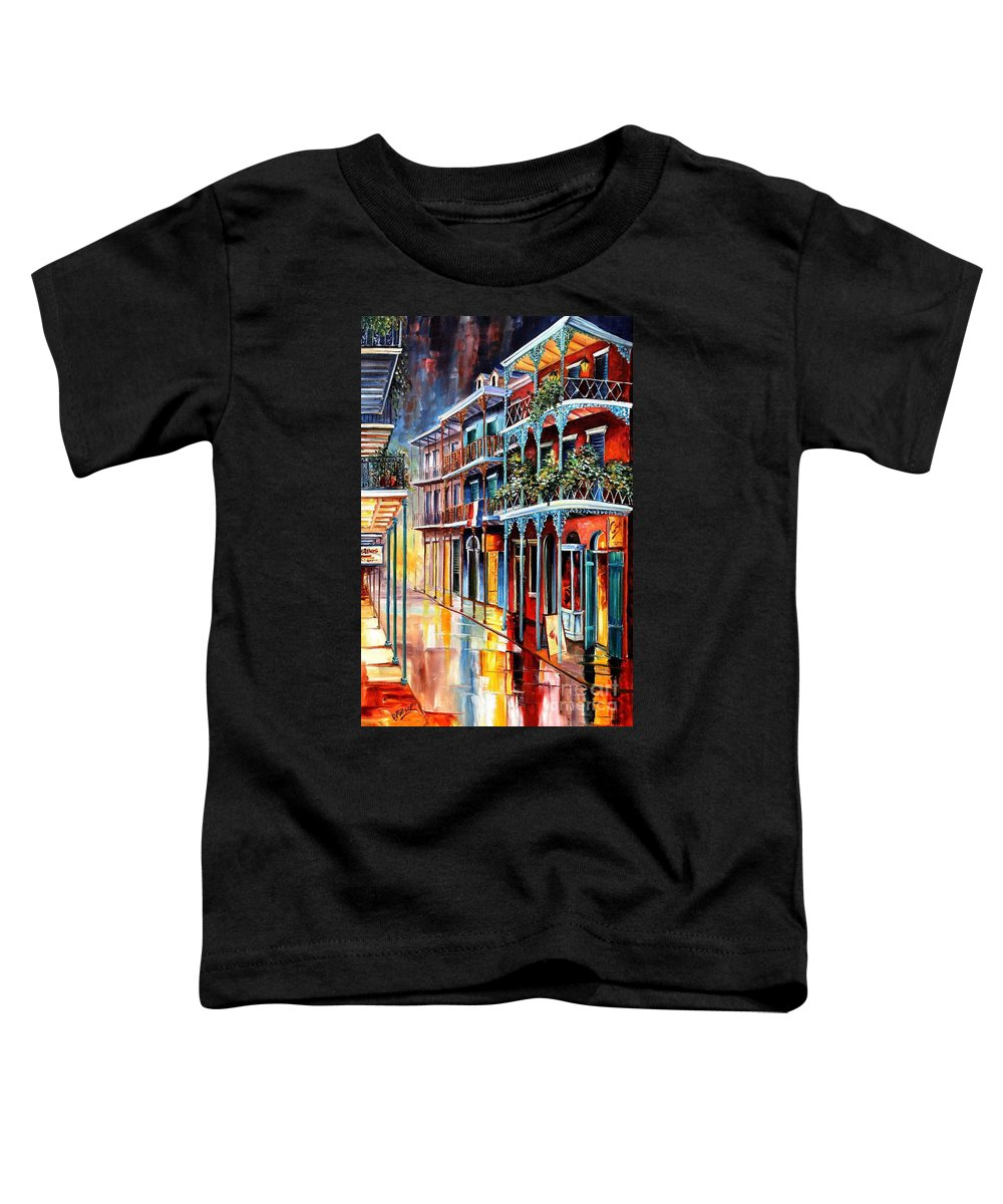 New Orleans Toddler T-Shirt featuring the painting Sparkling French Quarter by Diane Millsap