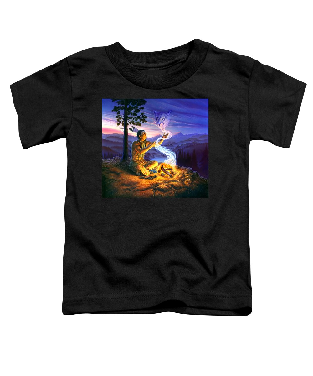 Adult Toddler T-Shirt featuring the photograph Spirit Of The Cougar by MGL Meiklejohn Graphics Licensing