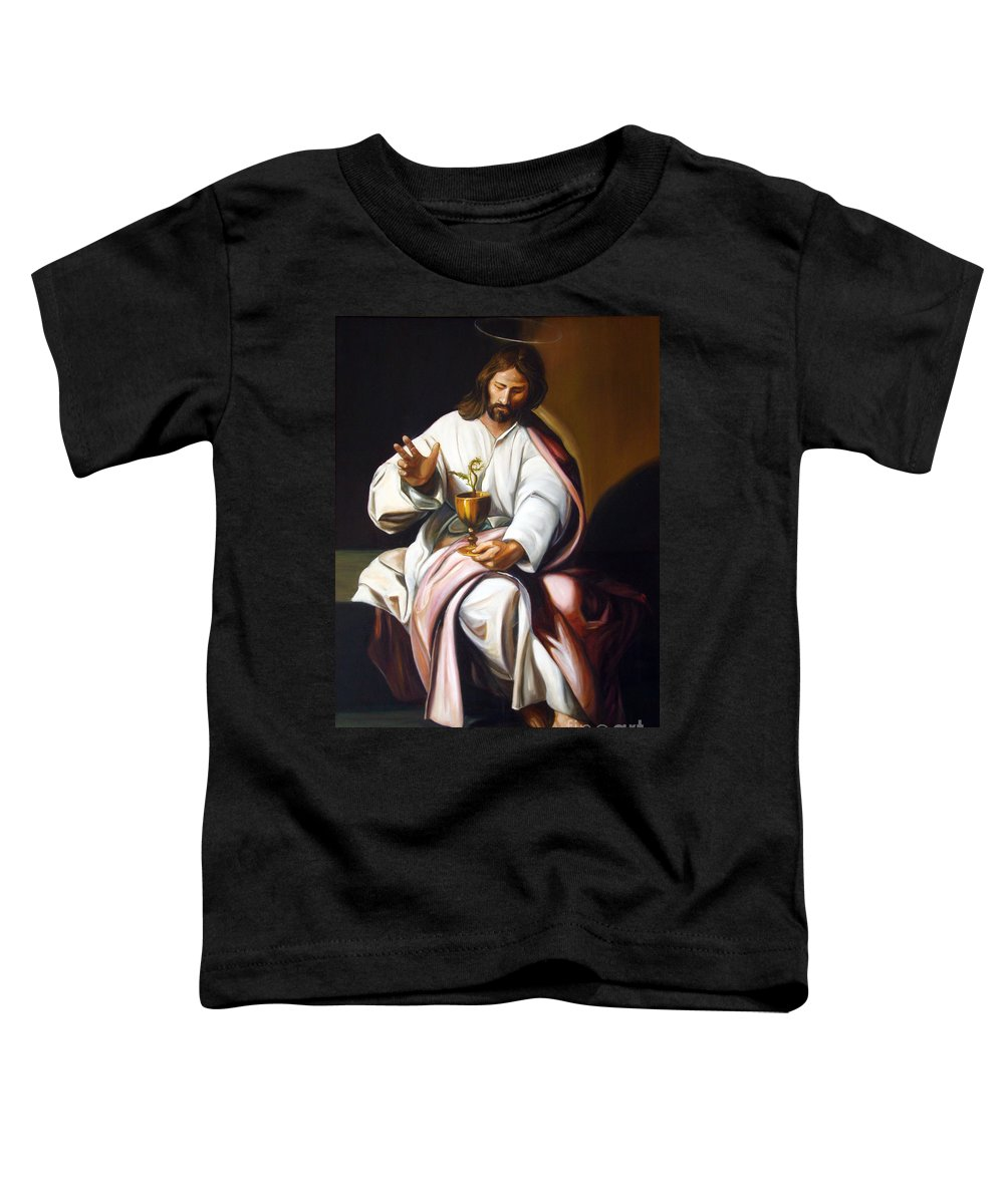 Classic Art Toddler T-Shirt featuring the painting St John The Evangelist by Silvana Abel