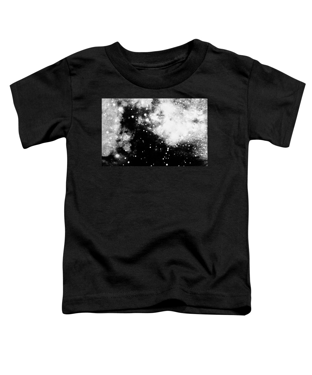 Art Toddler T-Shirt featuring the photograph Stars And Cloud-like Forms In A Night Sky by Duane Michals