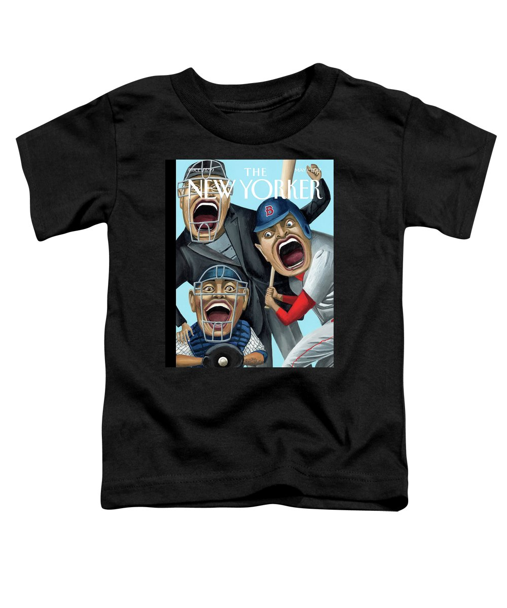 Strike Zone Toddler T-Shirt featuring the painting Strike Zone by Mark Ulriksen