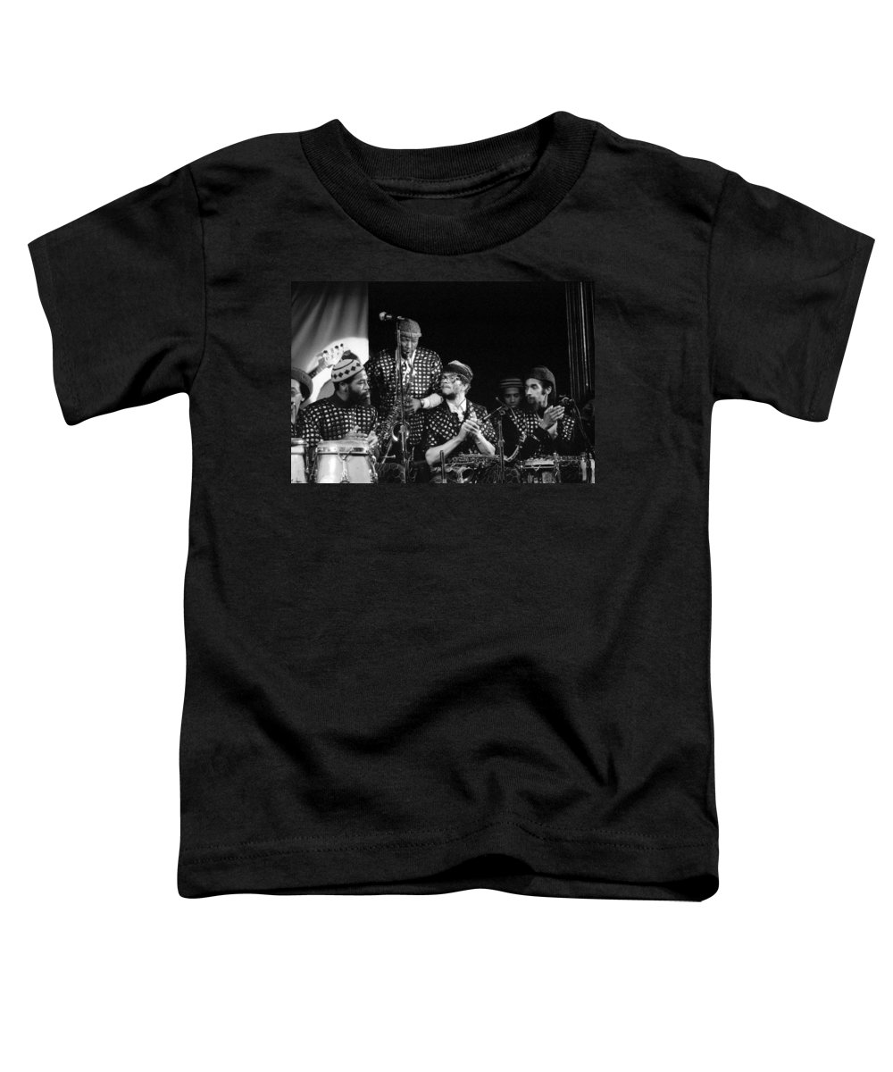 Jazz Toddler T-Shirt featuring the photograph Sun Ra Arkestra With John Gilmore by Lee Santa