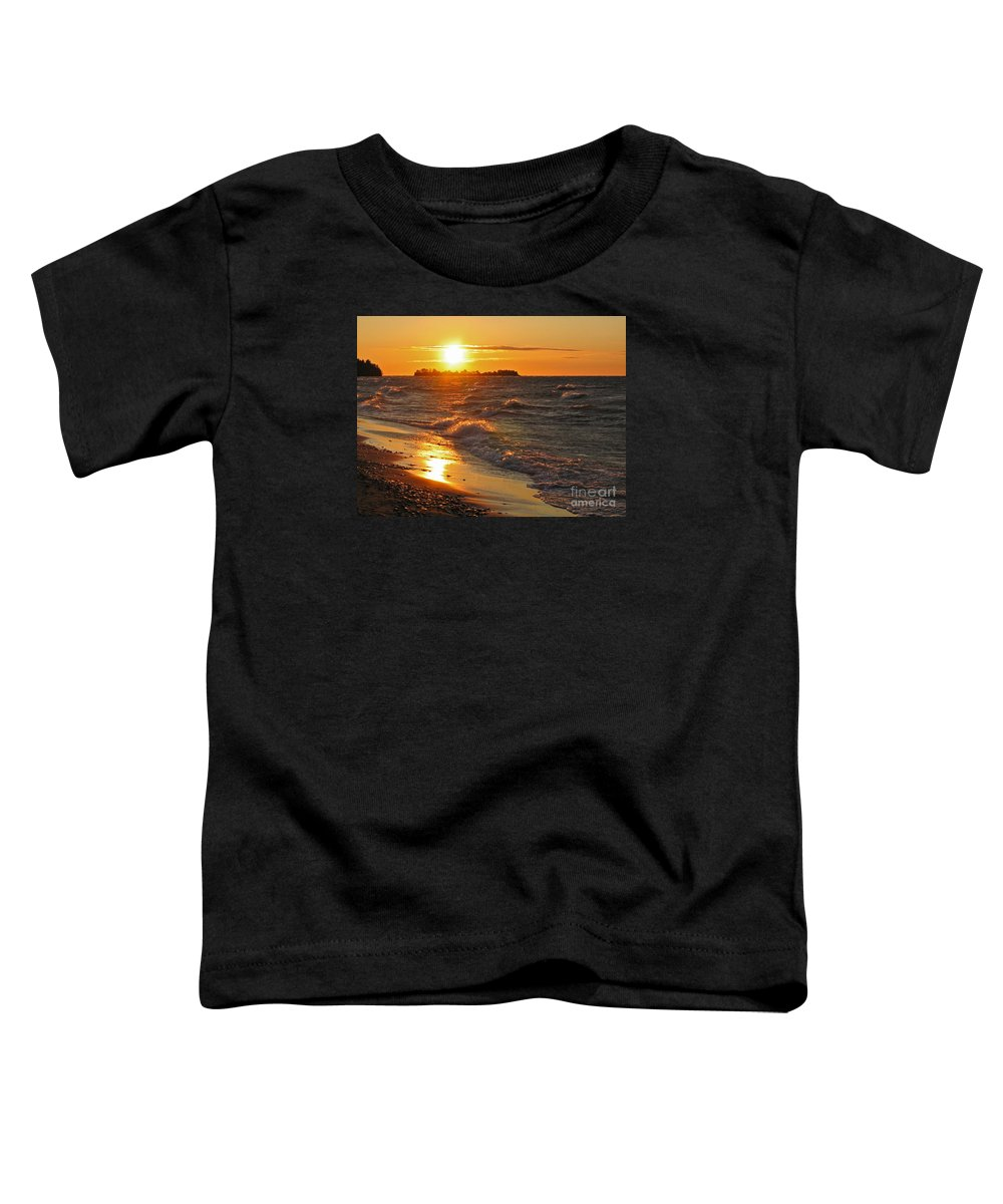 Sunset Toddler T-Shirt featuring the photograph Superior Sunset by Ann Horn