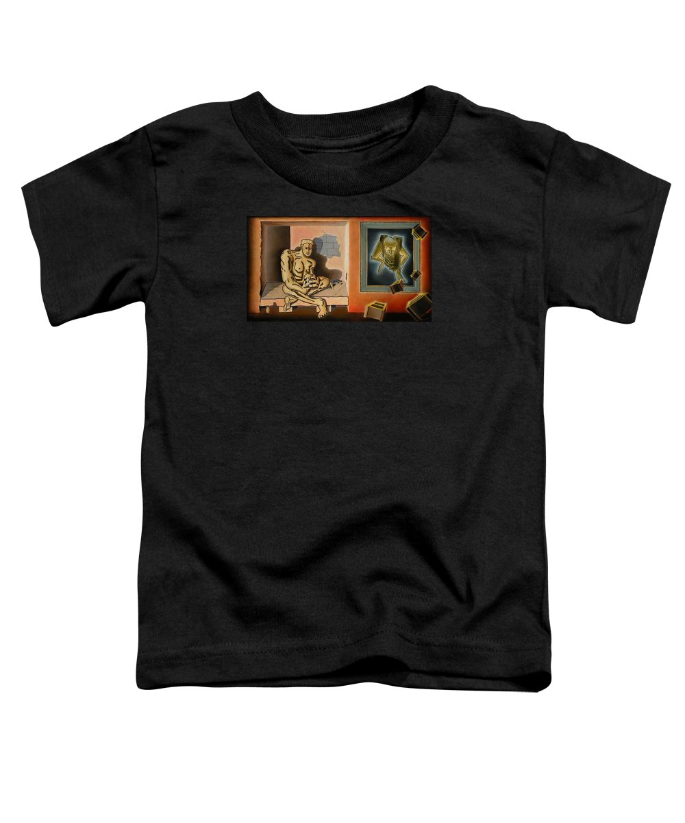 Surreal Toddler T-Shirt featuring the painting Surreal Portents Of Genius by Dave Martsolf