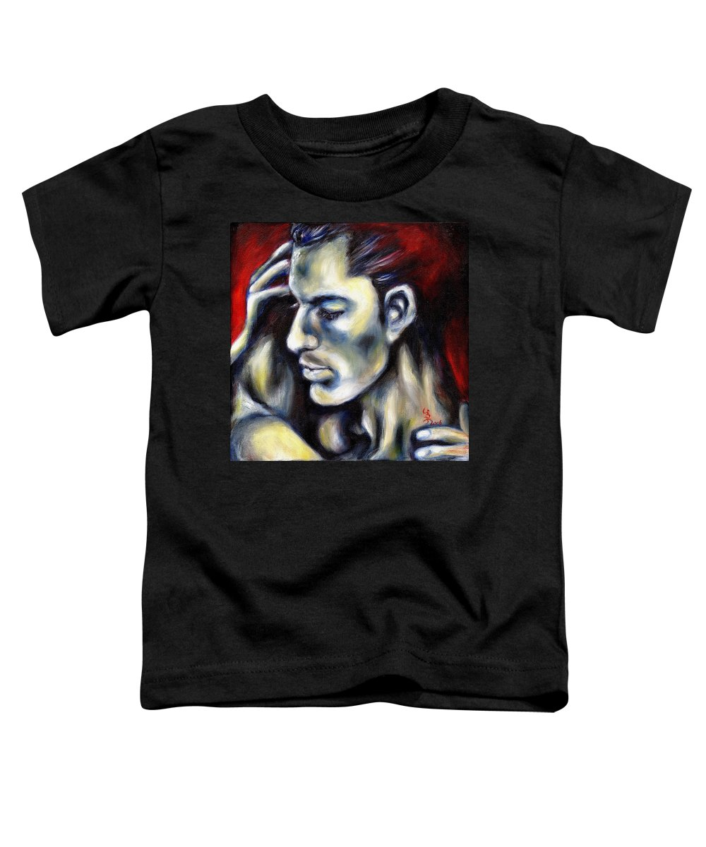 Man Toddler T-Shirt featuring the painting Sweetest Taboo by Hiroko Sakai