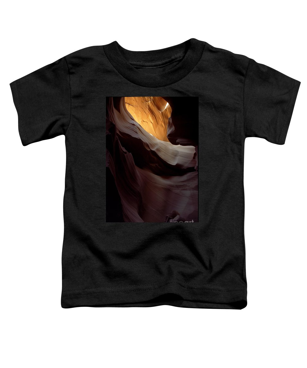 Slot Canyons Toddler T-Shirt featuring the photograph Swopes by Kathy McClure