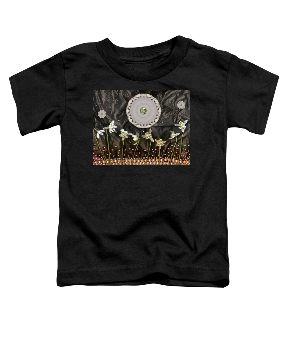 Temple Toddler T-Shirt featuring the mixed media Temple Of All Gods Pop Art by Pepita Selles