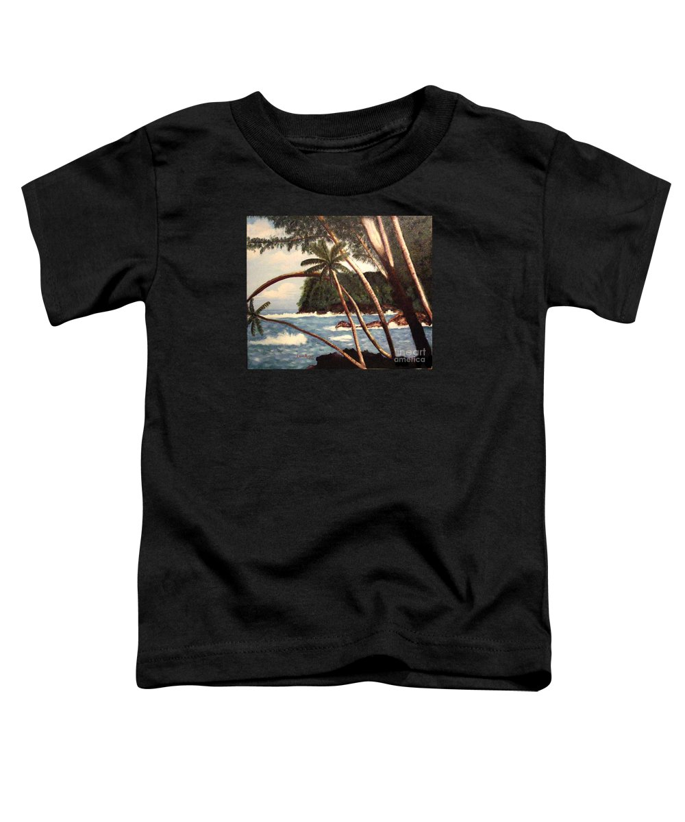 Hawaii Toddler T-Shirt featuring the painting The Big Island by Laurie Morgan