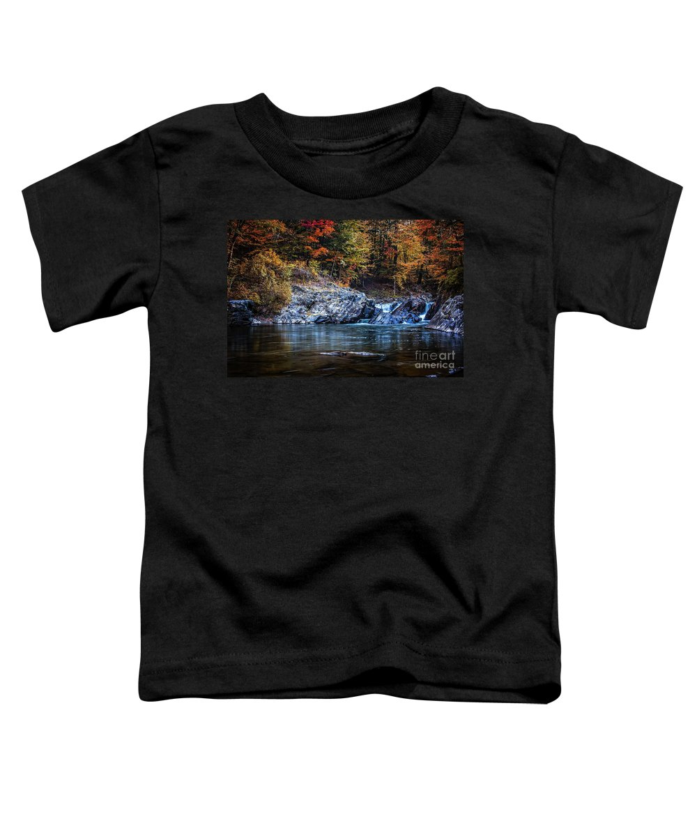 Thetford Toddler T-Shirt featuring the photograph The Chutes Thetford Vermont by Edward Fielding