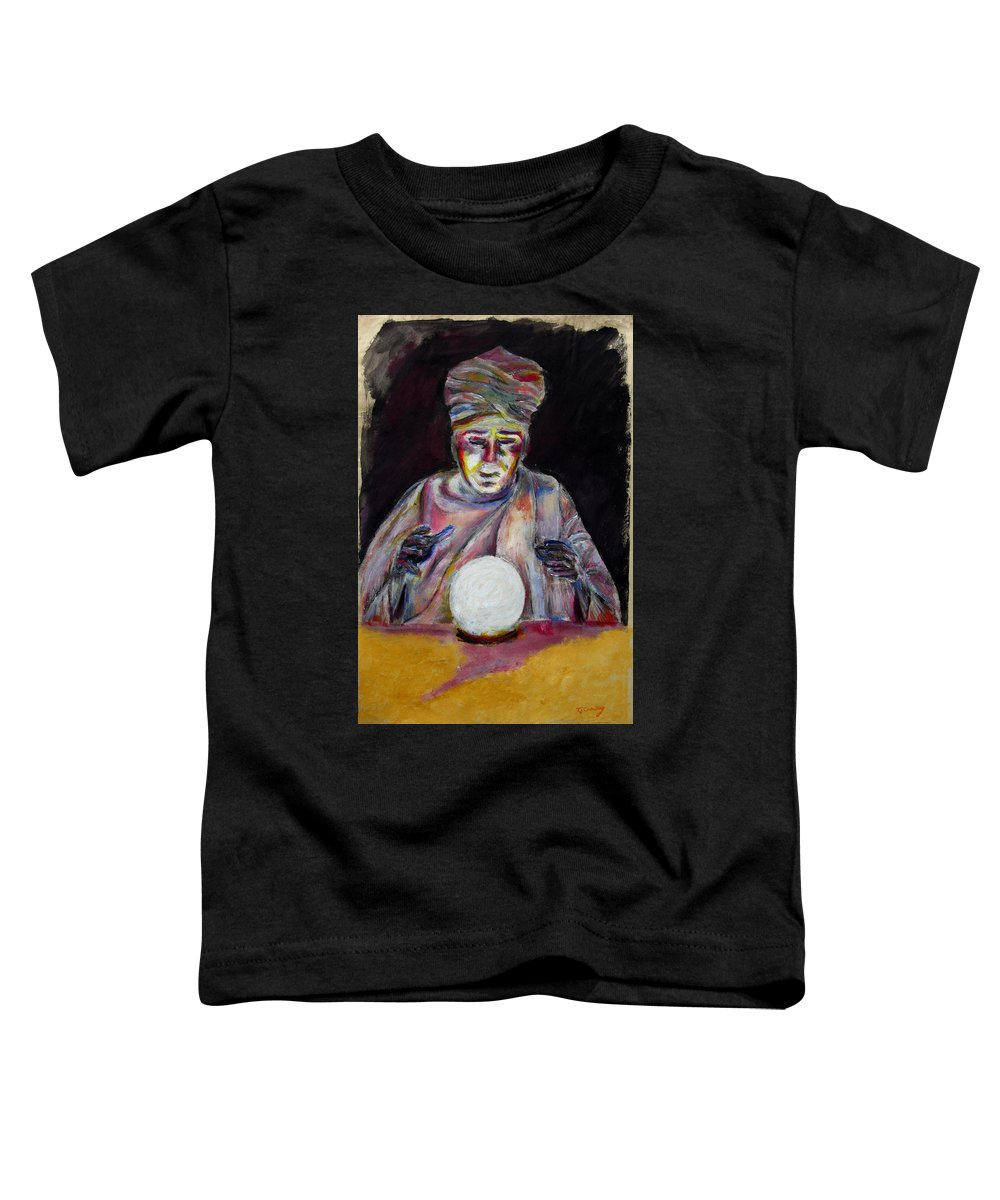 Fortune Tellers Toddler T-Shirt featuring the painting The Fortune Teller by Tom Conway