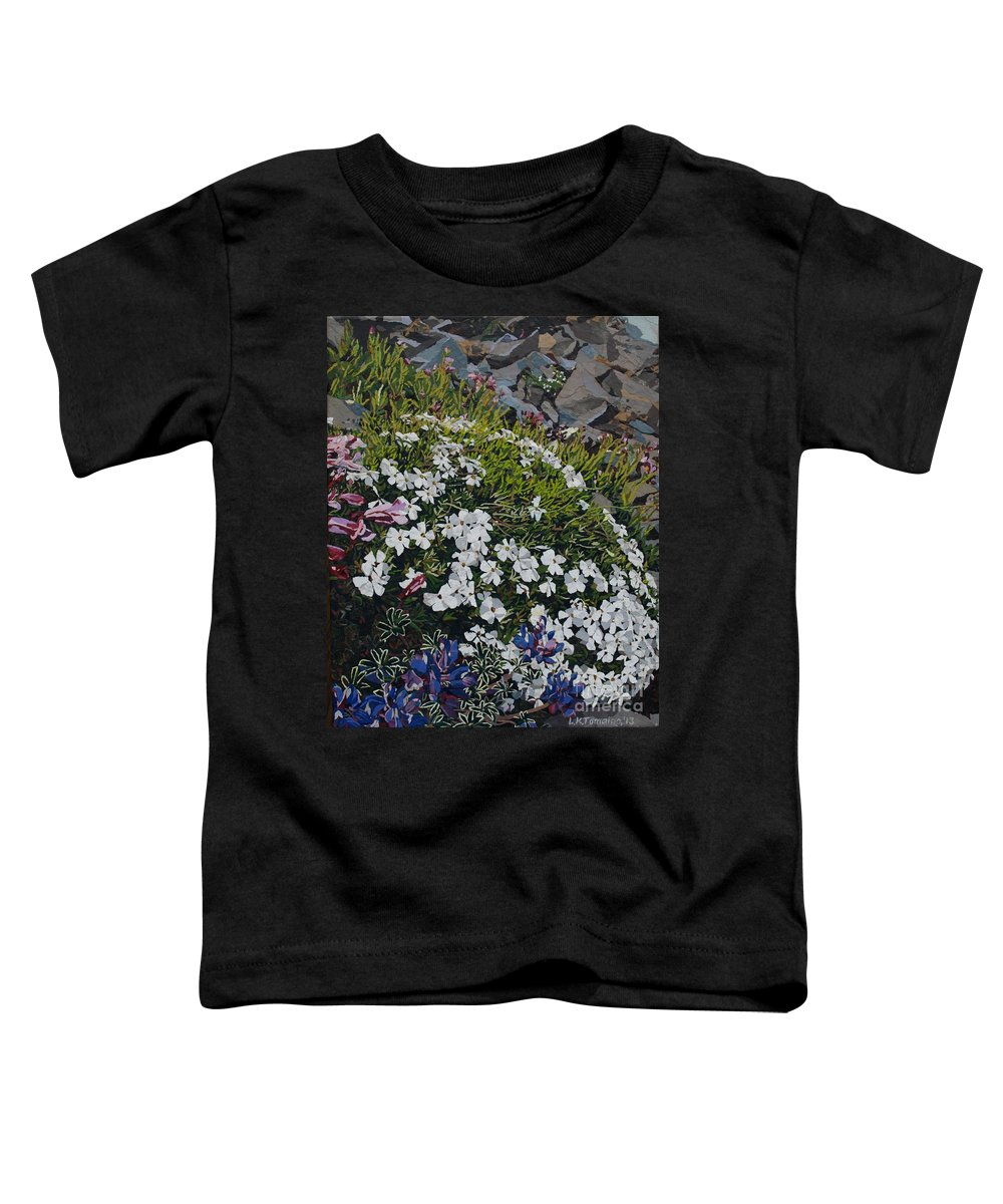 Landscape Toddler T-Shirt featuring the mixed media The Last of Mt. Rainier by Leah Tomaino