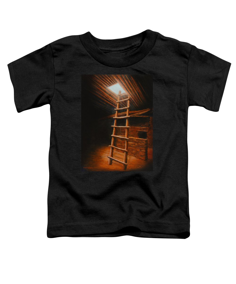 Kiva Toddler T-Shirt featuring the painting The Second World by Jerry McElroy