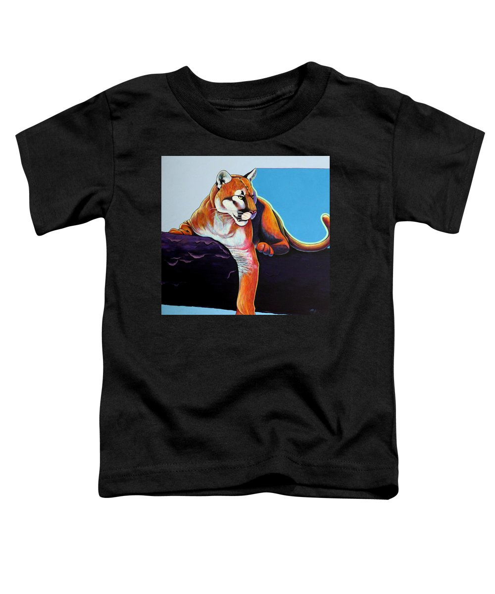 Wildlife Toddler T-Shirt featuring the painting The Toll Collector by Joe Triano
