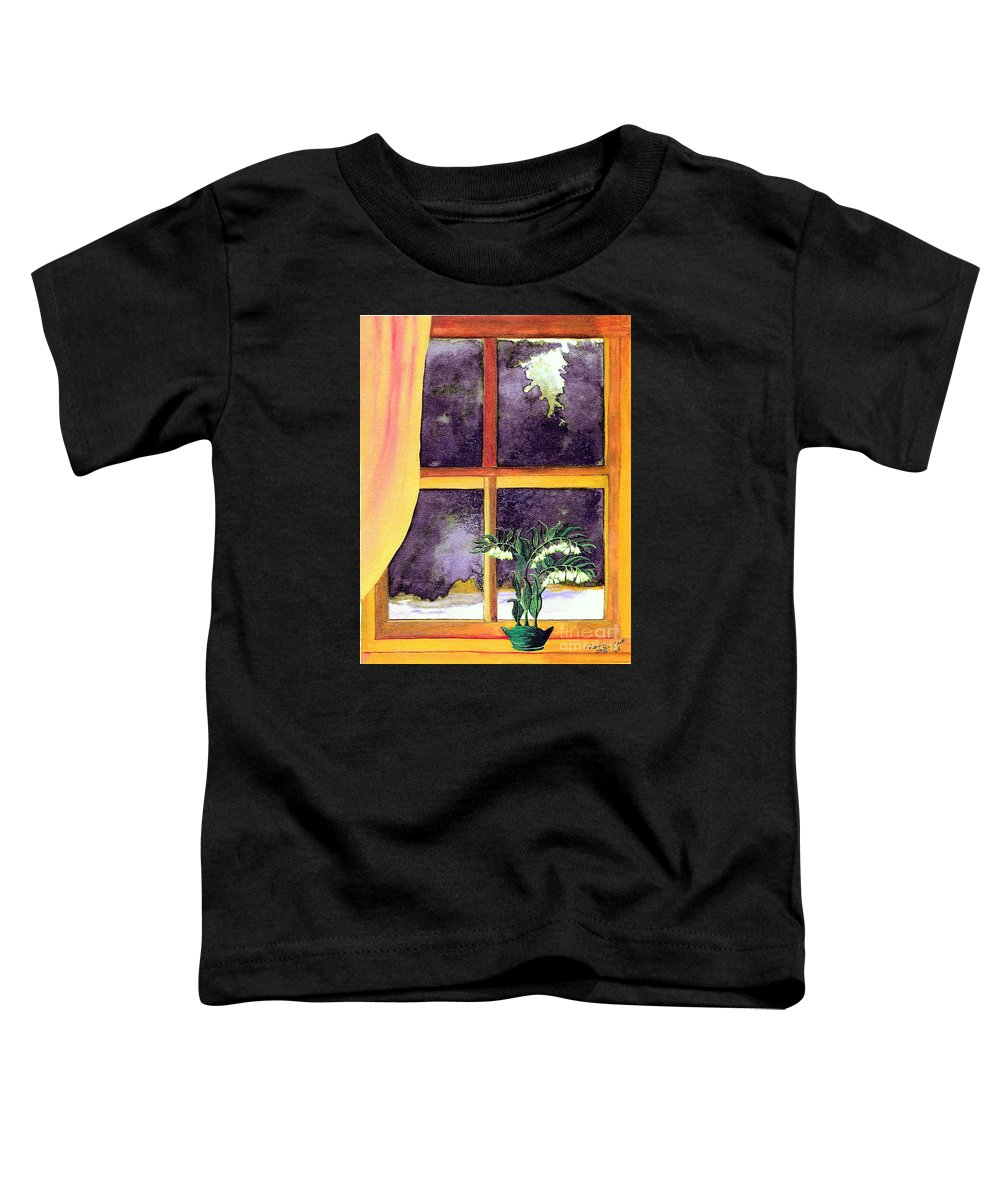 Fine Art Toddler T-Shirt featuring the painting Through The Window by Patricia Griffin Brett