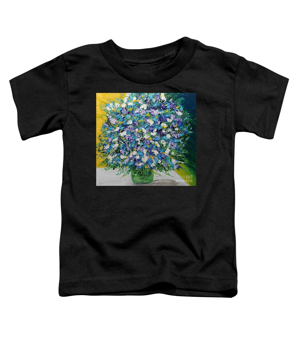 Landscape Toddler T-Shirt featuring the painting To Have And Delight by Allan P Friedlander