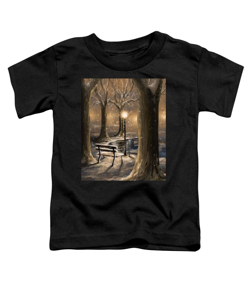 Winter Toddler T-Shirt featuring the digital art Trees by Veronica Minozzi