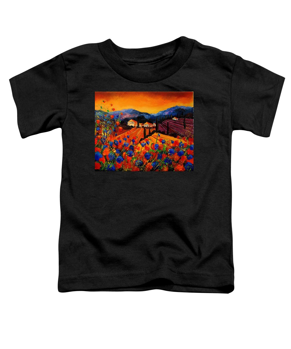 Poppies Toddler T-Shirt featuring the painting Tuscany Poppies by Pol Ledent