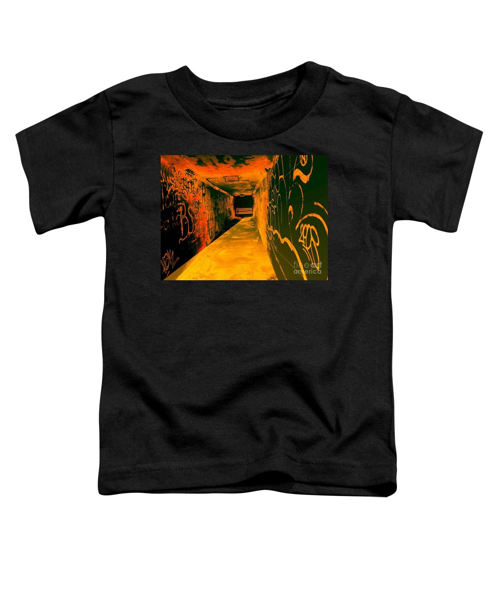Tunnel Toddler T-Shirt featuring the photograph Under The Bridge by Ze DaLuz