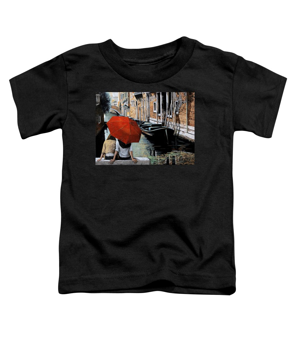 Canal Scene Toddler T-Shirt featuring the painting Uno Sguardo Al Canale by Guido Borelli