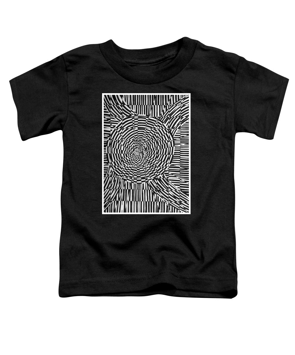 Abstract Toddler T-Shirt featuring the drawing Unraveled by Crystal Hubbard
