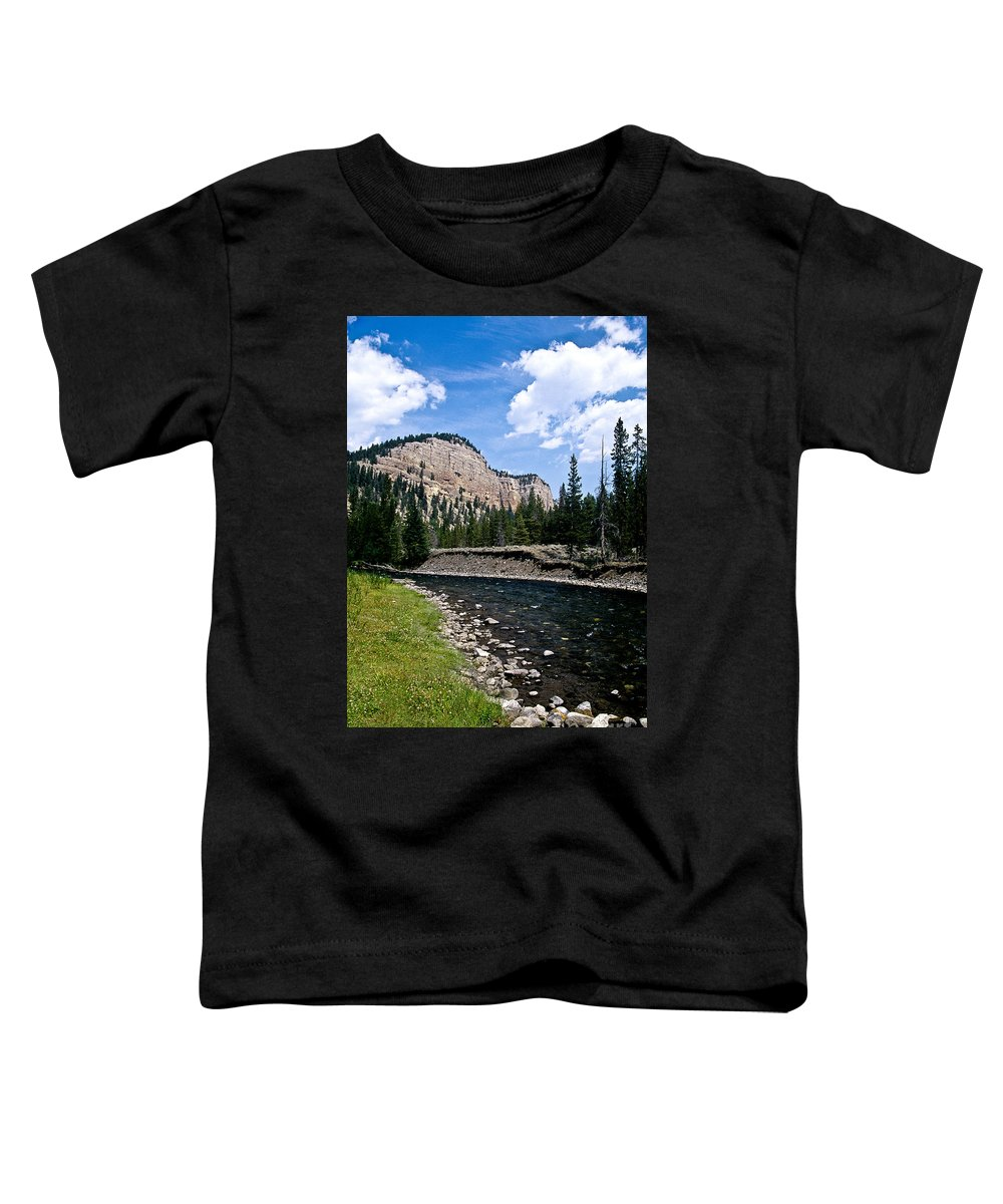 Landscape Toddler T-Shirt featuring the photograph Upriver In Washake Wilderness by Kathy McClure