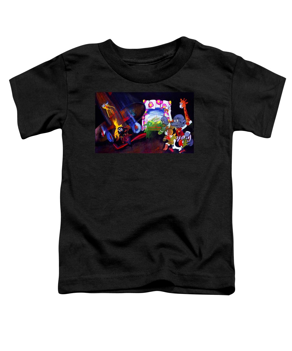 Cartoon Toddler T-Shirt featuring the painting Watch With Mother by Charles Stuart