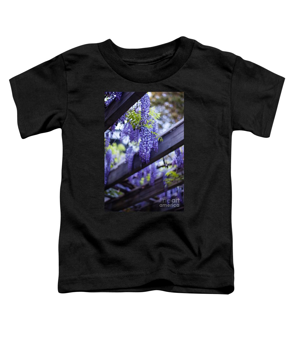 Wisteria Toddler T-Shirt featuring the photograph Wisteria Beams by Mike Reid