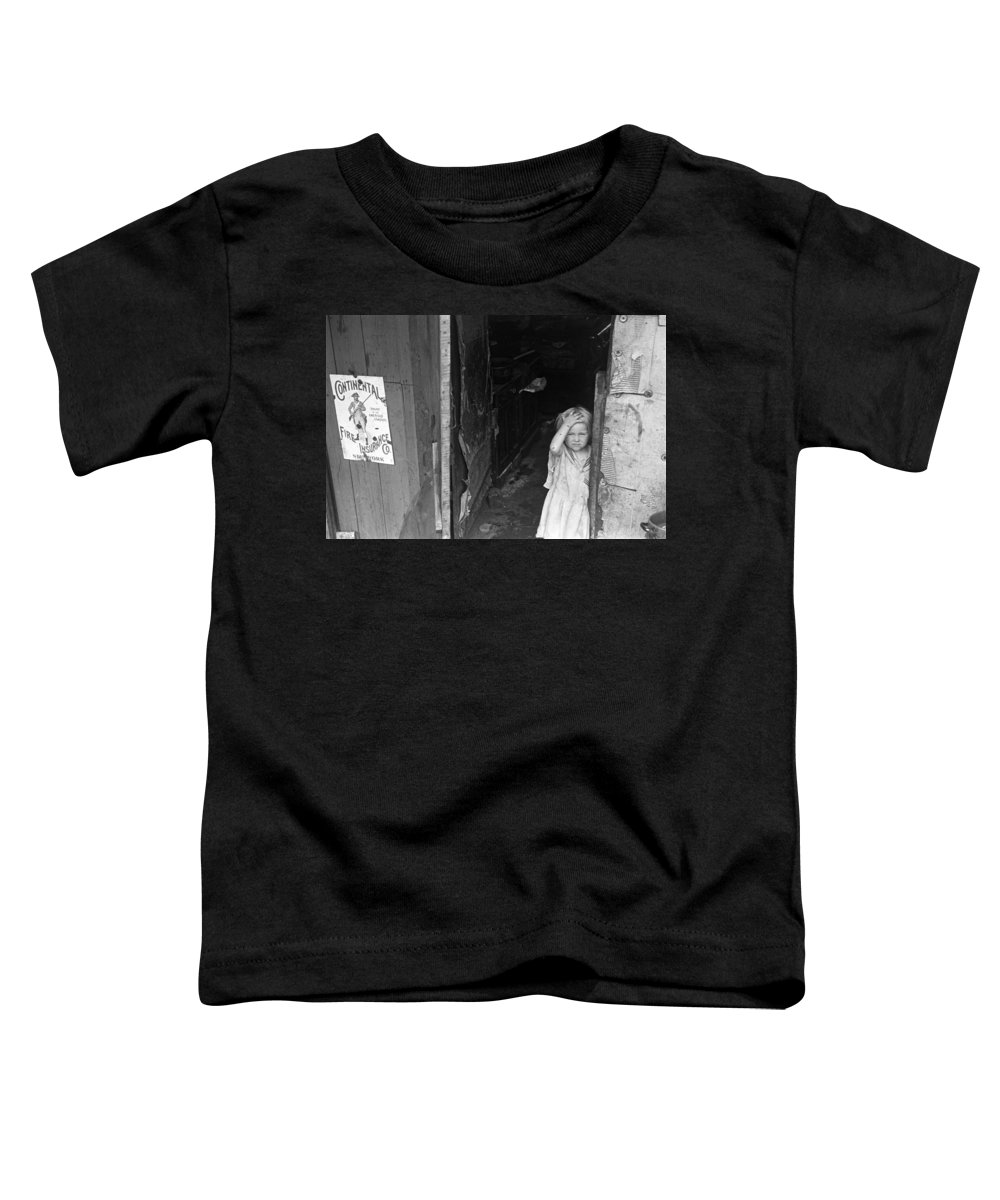 1938 Toddler T-Shirt featuring the photograph Wpa Young Girl, 1938 by Granger