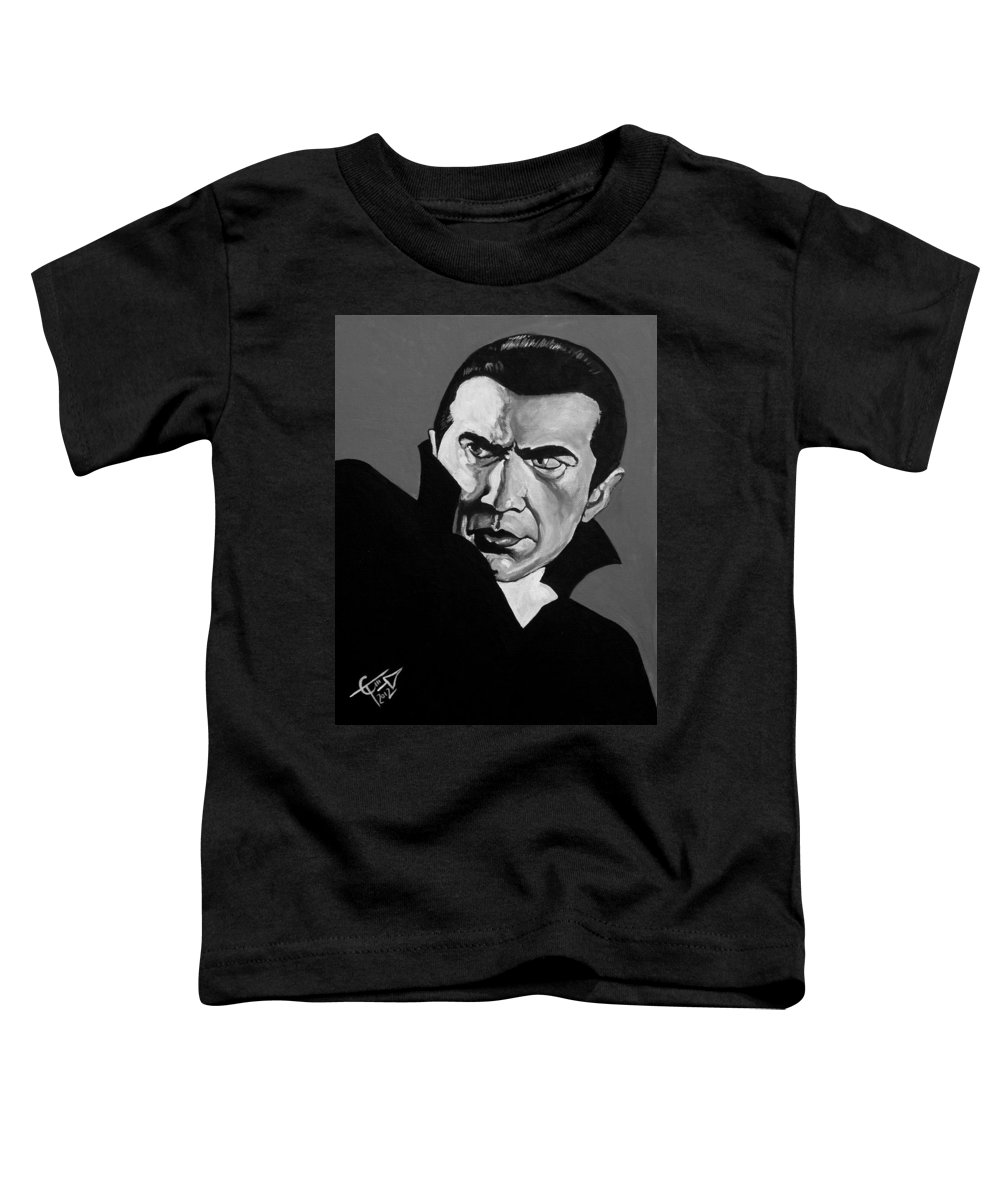 Dracula Toddler T-Shirt featuring the painting Dracula by Tom Carlton