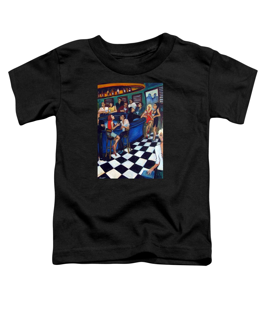 Chicago Style Bar Toddler T-Shirt featuring the painting 32 East by Valerie Vescovi