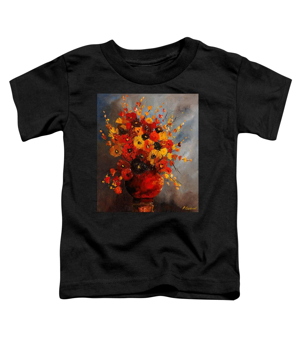 Flowers Toddler T-Shirt featuring the painting Bunch 0708 by Pol Ledent