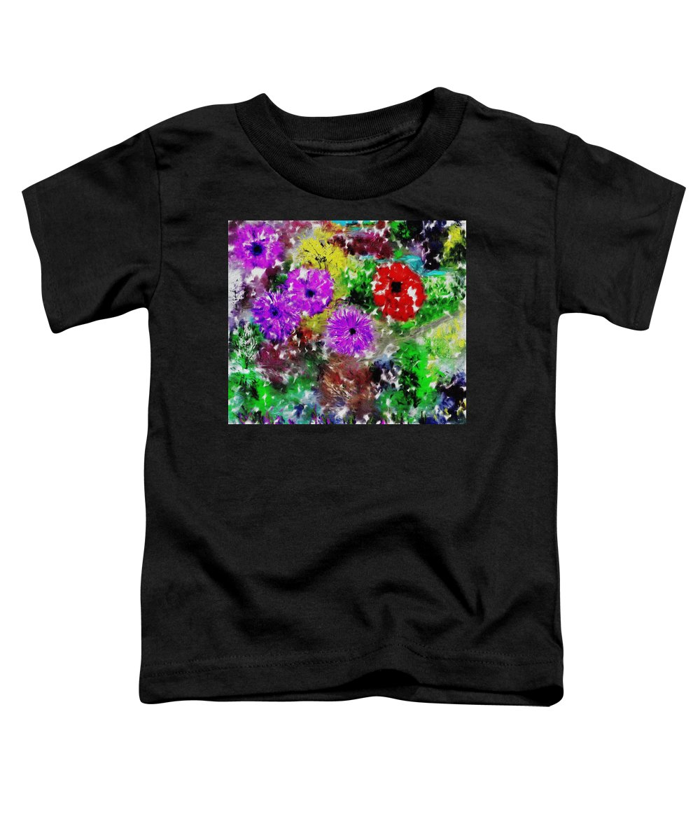 Landscape Toddler T-Shirt featuring the digital art Dream Garden II by David Lane