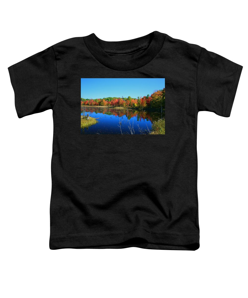 Fall Toddler T-Shirt featuring the photograph Fall Fire Works by Robert Pearson