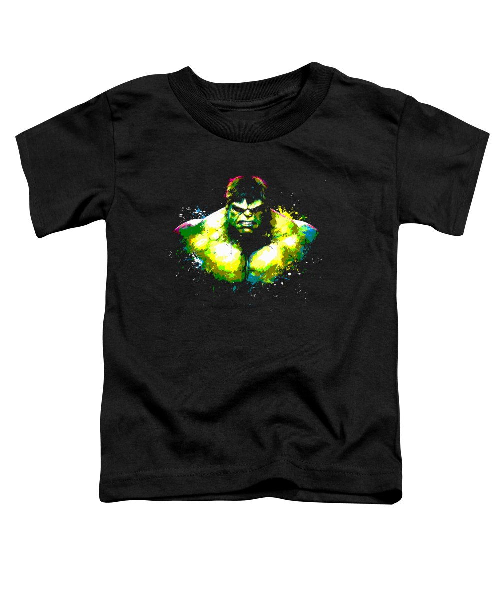 Incredible Toddler T-Shirt featuring the painting Hulk by Ian King