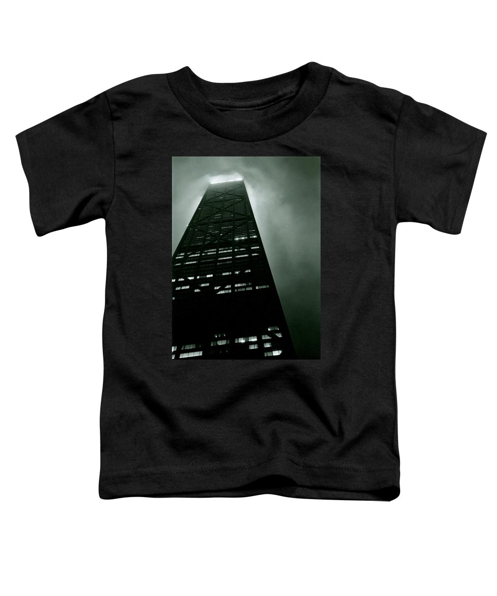 Geometric Toddler T-Shirt featuring the photograph John Hancock Building - Chicago Illinois by Michelle Calkins